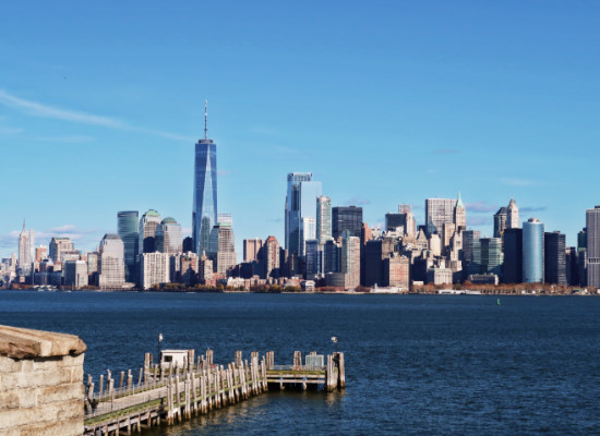 Skyline de Manhattan desde Liberty Island.