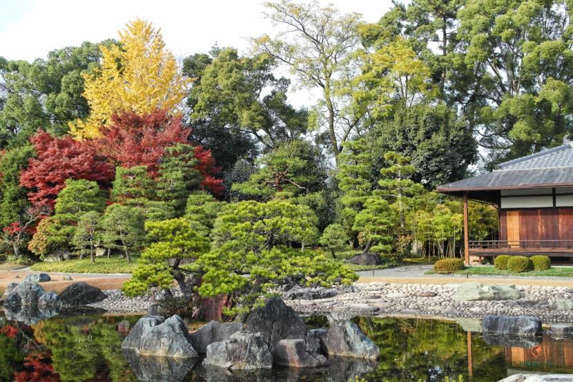 Jardín Seiryu-en en el Castillo Nijo.