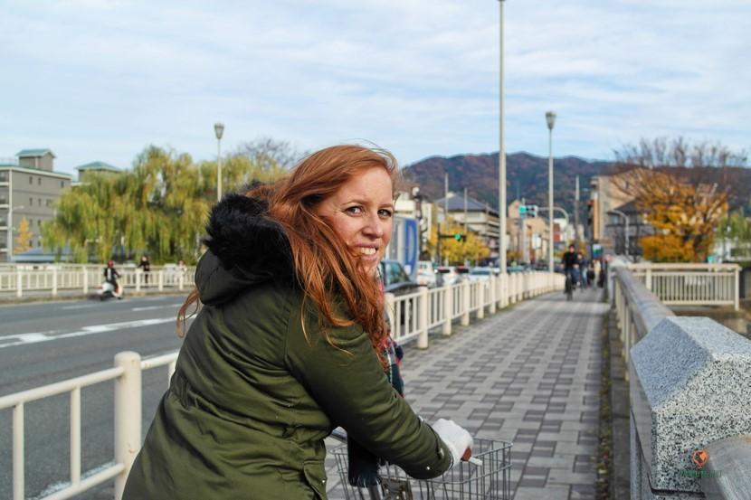 Alquilar bicis en Kioto.