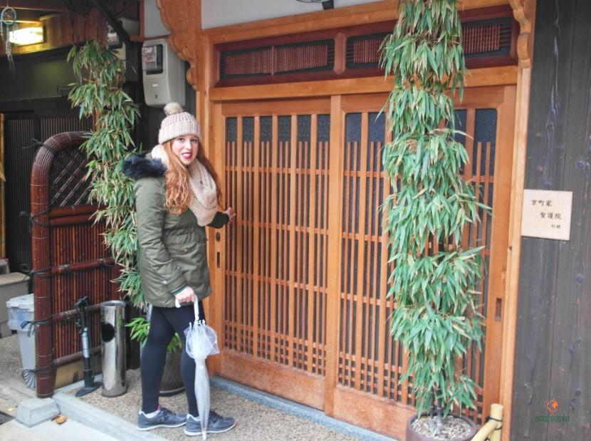 Alojamiento tradicional en Kioto.