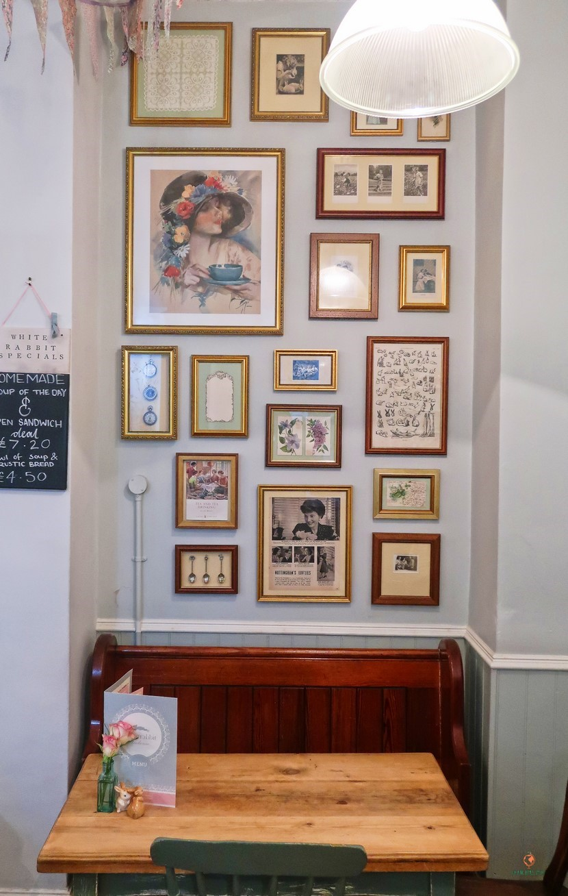 The White Rabbit Teahouse en Nottingham.